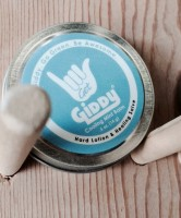 Giddy Hand Balm, available at all of our gyms and smells freaking delicious.
