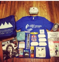 Look at all that giveaway swag!