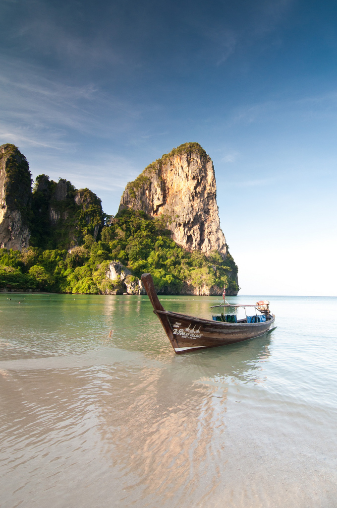 Not a bad place to vacation! Railay beach in Krabi, Thailand.