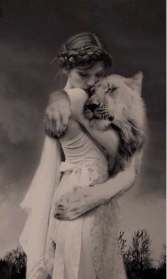 photo woman w lion.jpg