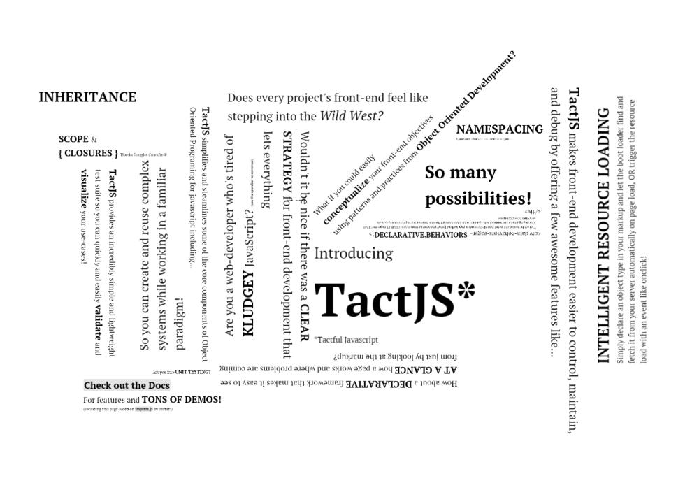 TactJS.com  Presentation Crica 2011