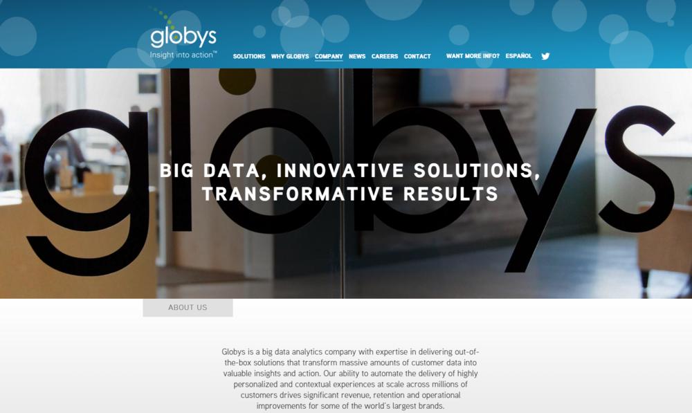 Globys.com Circa 2016
