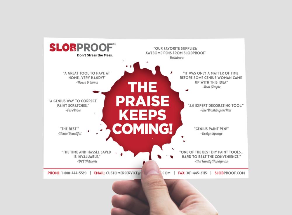 Postcard design for SlobProof