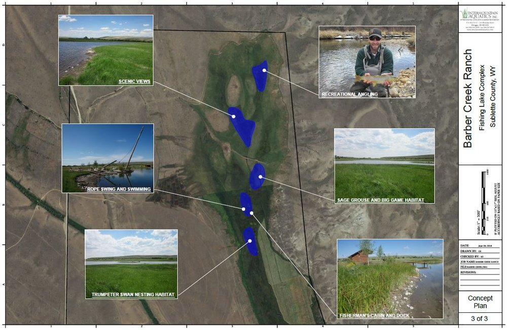 We offer FREE concept plan maps depicting the ecological and recreation potential of ranch properties. -