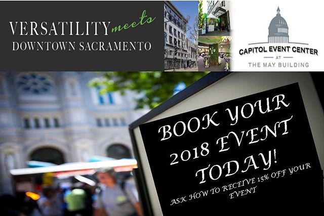 Book your 2018 event with us today!
