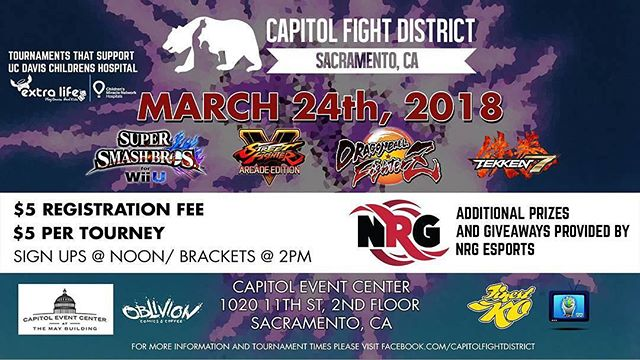 Come to this weeks Tournament and experience Sacramento's best Game Tournament @Regrann from @jaygist - March 24th is the next tournament featuring SFV, Smash4, DRAGONBALL FighterZ, and Tekken7!  Also, getting hooked up with some fun stuff thanks to @nrggram! #SacramentoProud #sacgamers #DragonBallFighterZ #SFV #smash4 #Tekken7 #nrgfam #nrgwin
