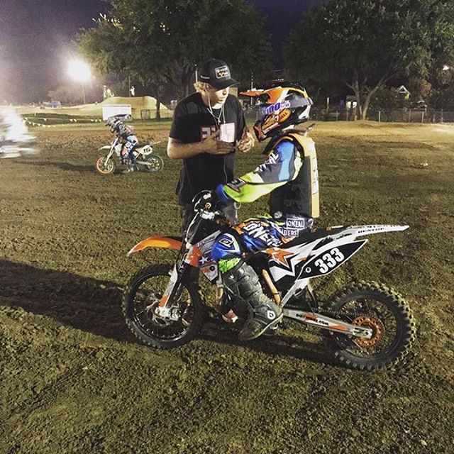 @charmon645 out meeting and teaching with young riders in between race weekends. #teammicrobiltprbc #yoshimura #teamsuzuki #rmarmy #thisismoto #promotocross