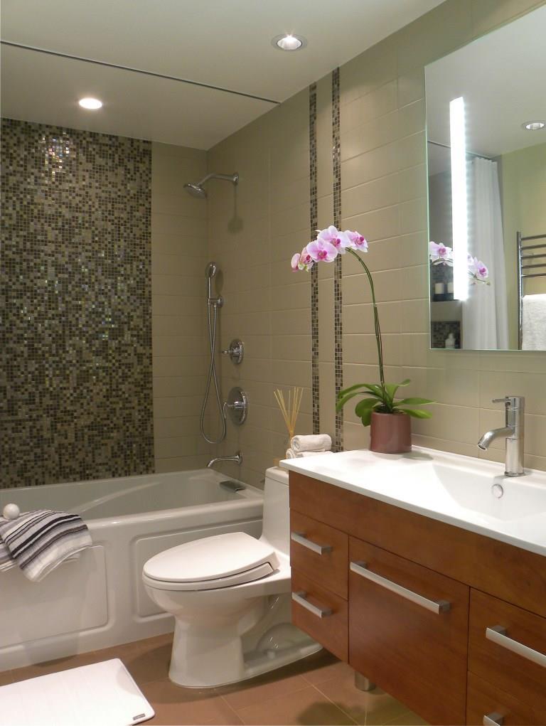 Small Bathroom Remodel Contemporary kitchen & bath — fg portfolio