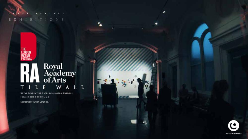 TILE WALL. ROYAL ACADEMY OF ARTS — SUMMER 2015