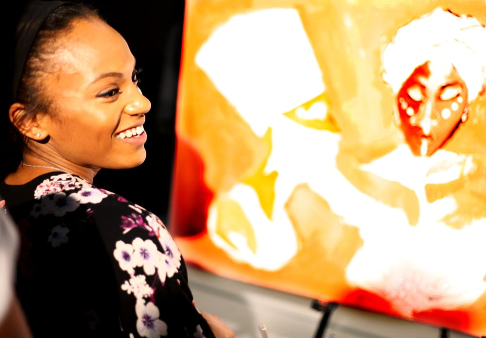 Brianna, live painter, 2015
