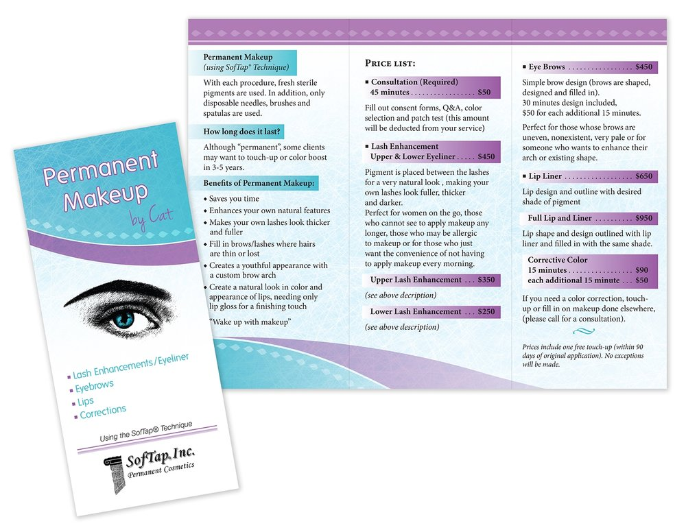 Trifold Brochure for Cosmetic Services