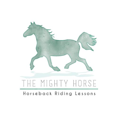Horse Logo, Horseback Riding Logo, Horse Ranch Logo, Stable Logo, Horse Boarding Logo, Horseback Riding Instructor Logo, Watercolor Horse Logo
