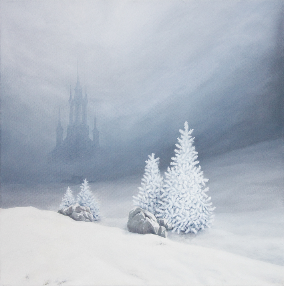 Winter Landscape   oil on canvas   50 x 50 cm   2010