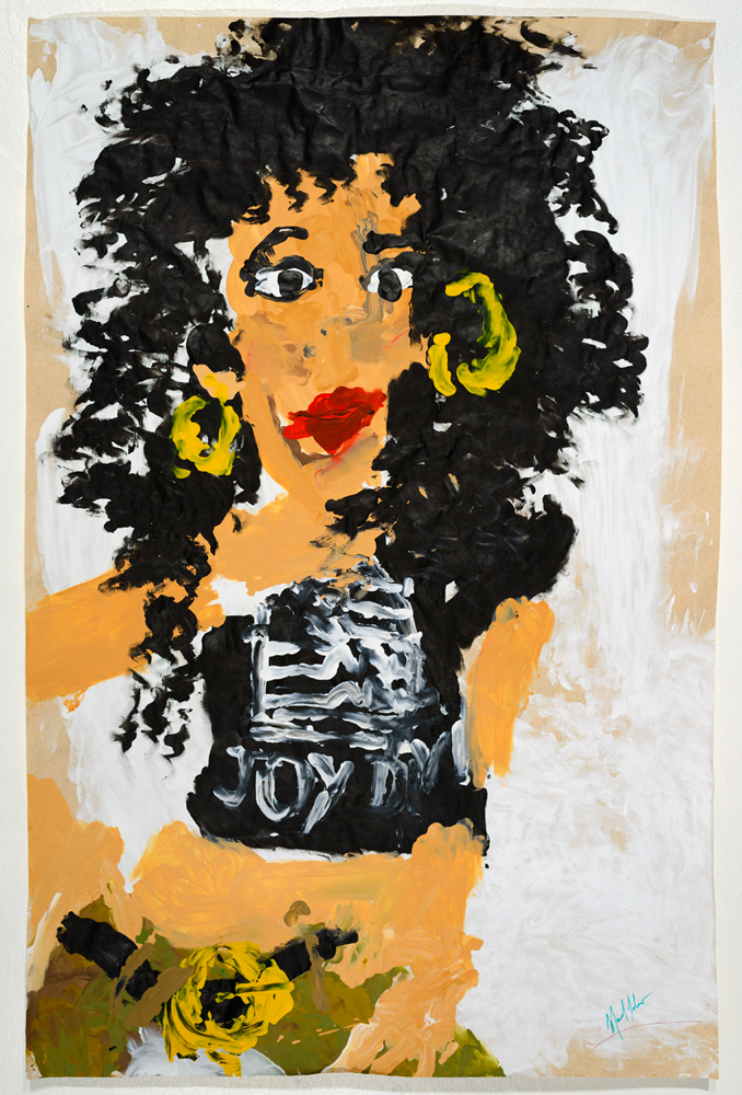 Cher ( from the series  BLIND TRANSGENDER WITH AIDS  )   acrylic on paper   85 x 57 cm   2014