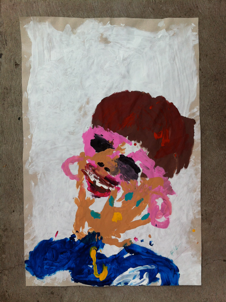 Tia Ana acrylic on paper 87 x 57 cm 2014
