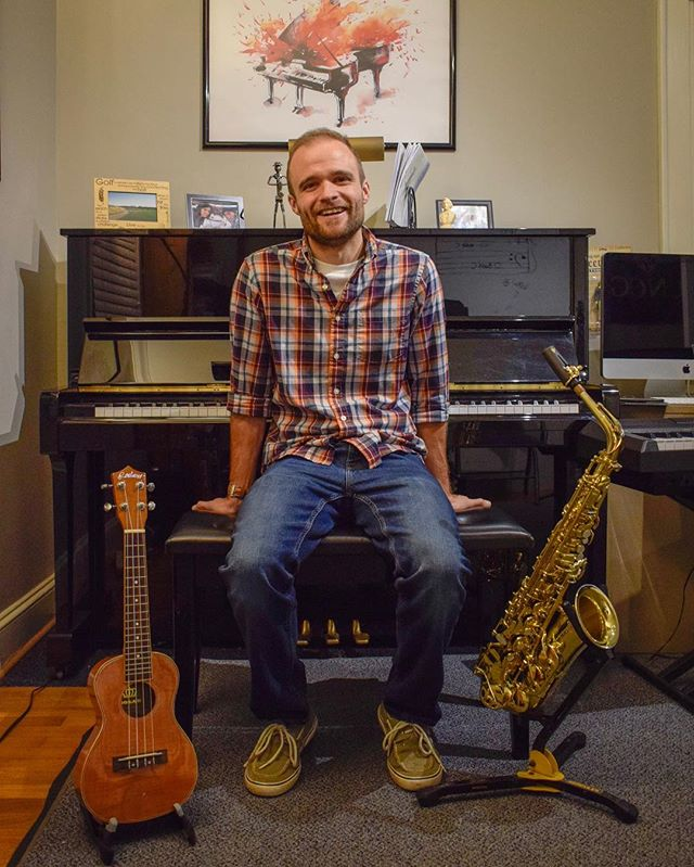 Meet one of our teachers, Brandon Noftle! Brandon teaches piano, ukulele, and saxophone at Upbeat Music Company. He currently has a waiting list for after-school times, but may have some availability for adult or homeschool students. Check out our website for more information! #upbeatmusiccompany #brandonnoftle #lewisvillenc #lewisvilleclemmons #triadnc #forsythcountync #musiclessons #piano #ukulele #saxophone