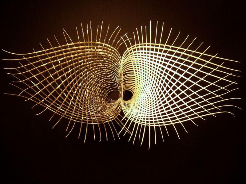 Weaving Sculpture by Leslie Benson; image courtesy of Leslie Benson