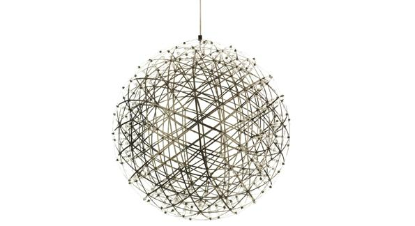 Raimond light designed by Raimond Puts with hundreds of LEDs between 2 concentric low-voltage spheres delivering design and electricity; Image courtesy of Propeller Modern