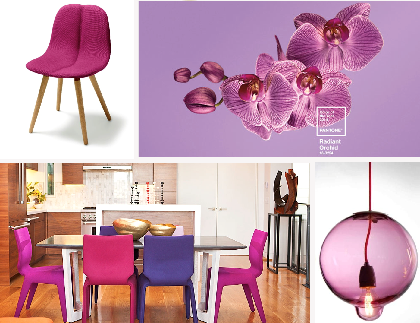 Chabada chairs by Roche Bobois in three vivid and playful vibrant tones, we balanced it with the stunning and neutral dining table by Wüd. With a nod to our design, the 'CHAIR DUO WOOD' by Patrick Norguet and Melt down lamps by Johan Lindsten