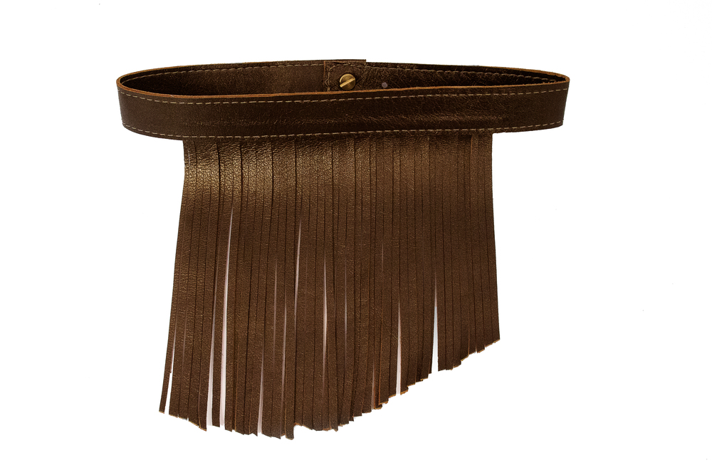 UtopiaDryGoods Bronze Pearl Natural Fringe Collar