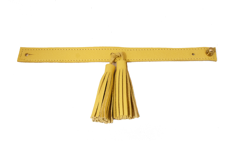 UtopiaDryGood yellow tassel thin cuff