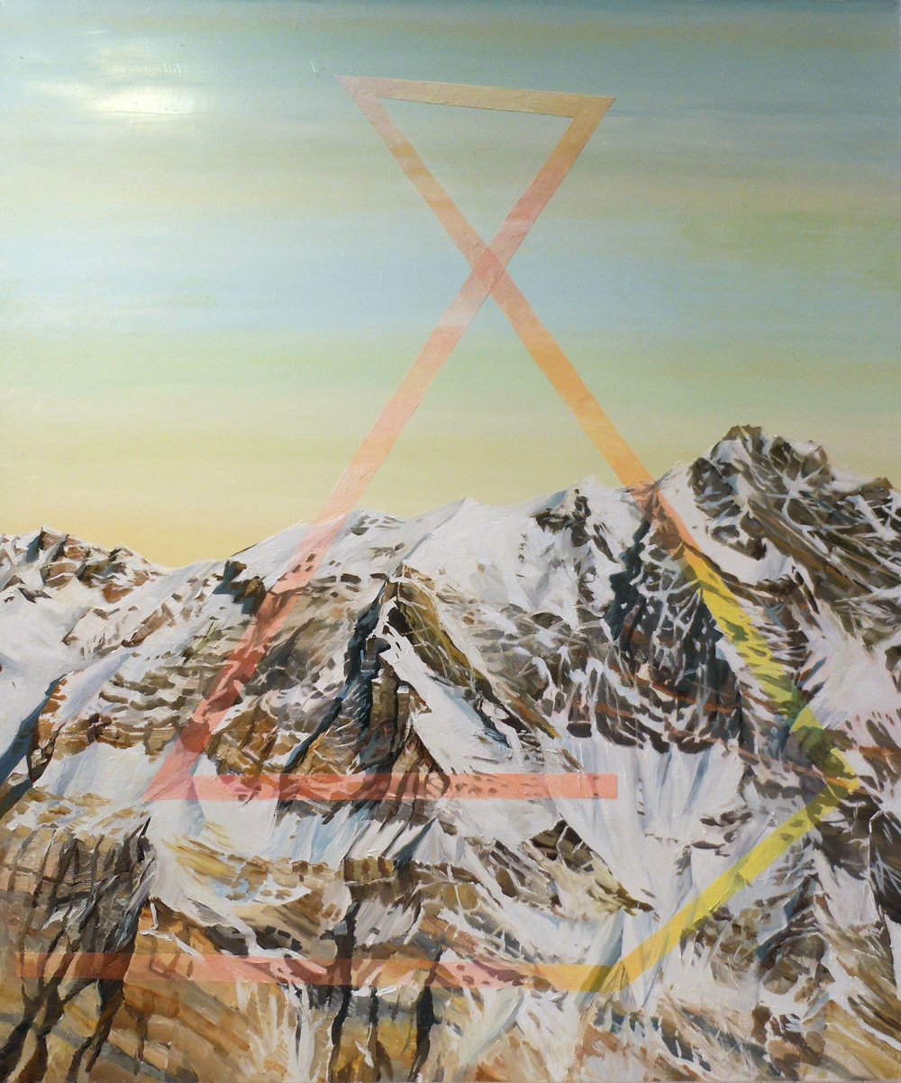 CHRIS RUSEELL – Layer, Mine & Refine, 50 x 42 inches, Oil on Canvas, 2012