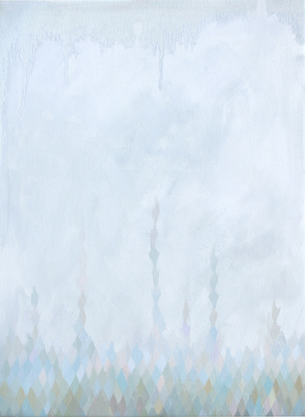 GINA BORG upward,oil on canvas, 16 x 12 inches, 2013