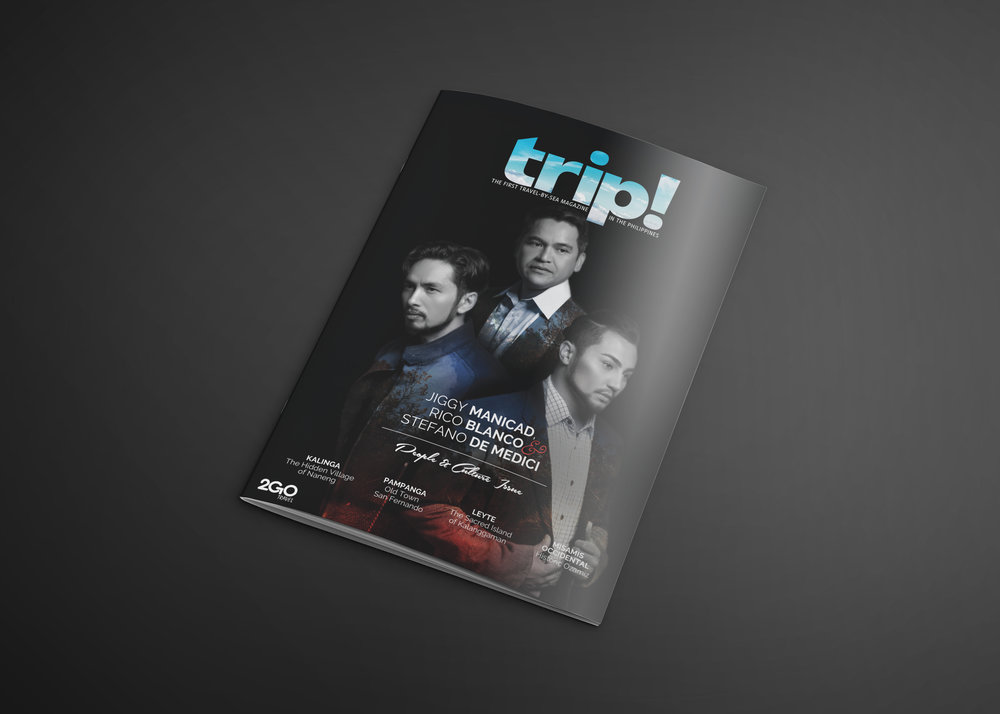 Trip! Magazine Cover - People and Culture Issue, Jiggy Manicad, Rico Blanco, and Stefano De Medici