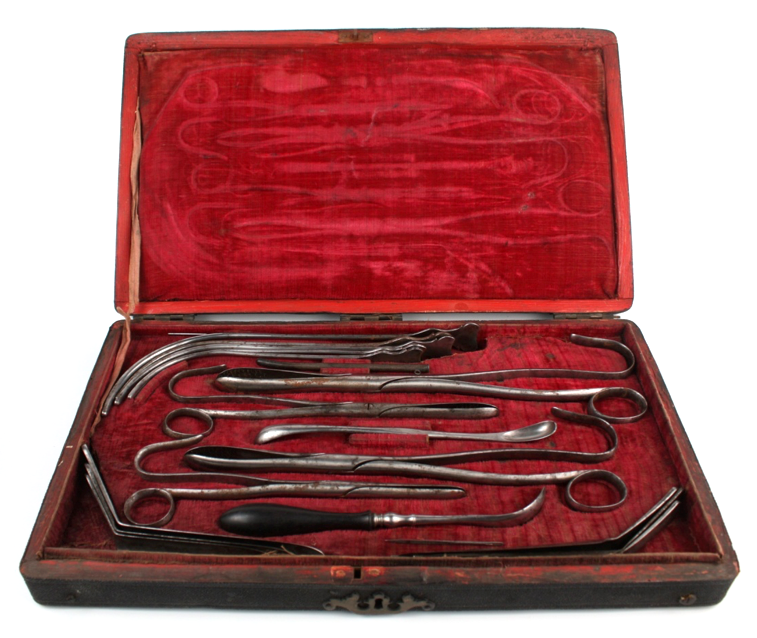 Surg - Cheselden's  Lithotomy Instruments by Evans.png