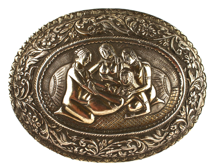 Gyn - Kama Sutra Box 19th C. Tooled Silver.png
