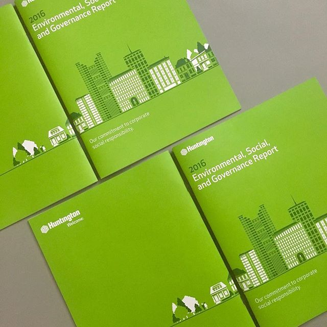 Annual report designed for Huntington Bank in collaboration with Jump Creative. #graphicdesign #illustration #printedmatter