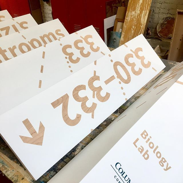 Getting a preview of some new custom wood and vinyl corner signs soon to be installed in Dublin.