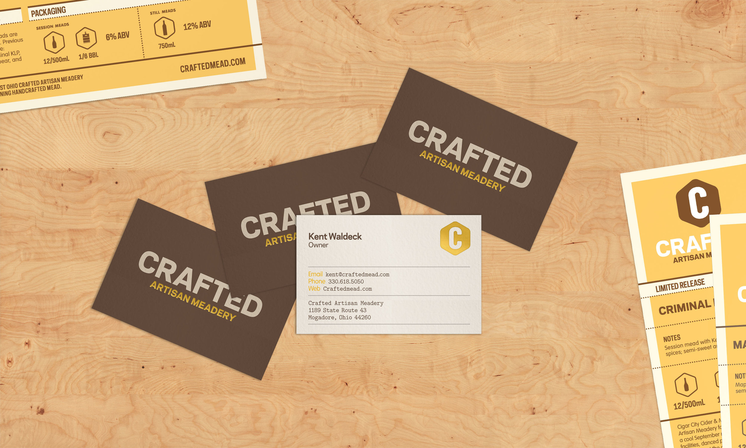 Crafted Artisan Meadery — Grafica Columbus Ohio Branding and