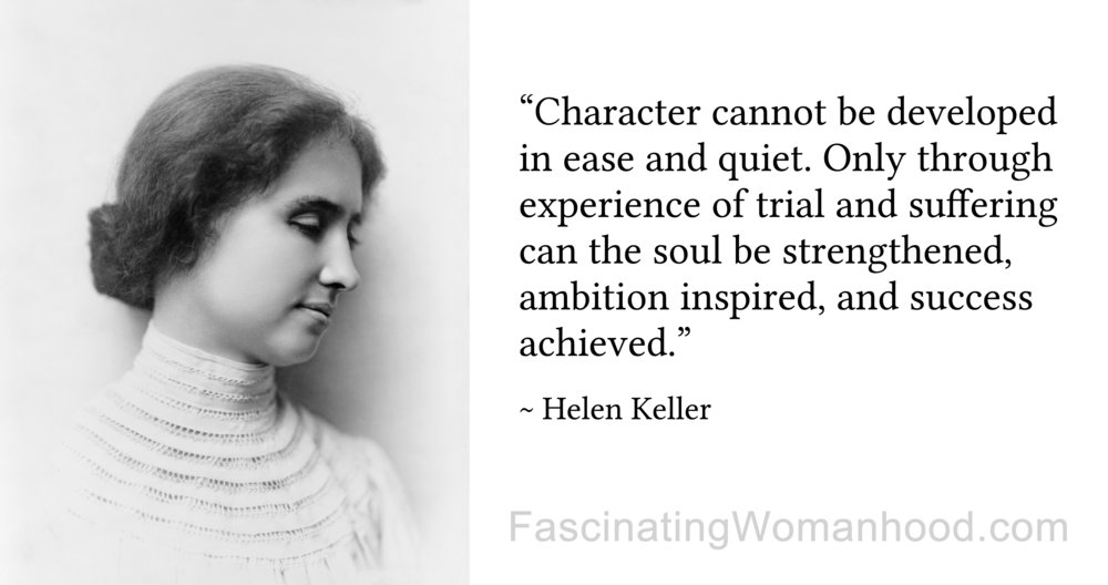 A quote by helen keller fascinating womanhood a quote by helen keller fascinating womanhood altavistaventures Image collections