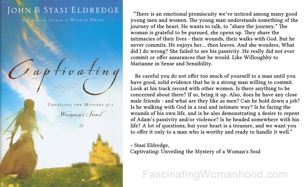 A Quote By Stasi Eldredge Fascinating Womanhood