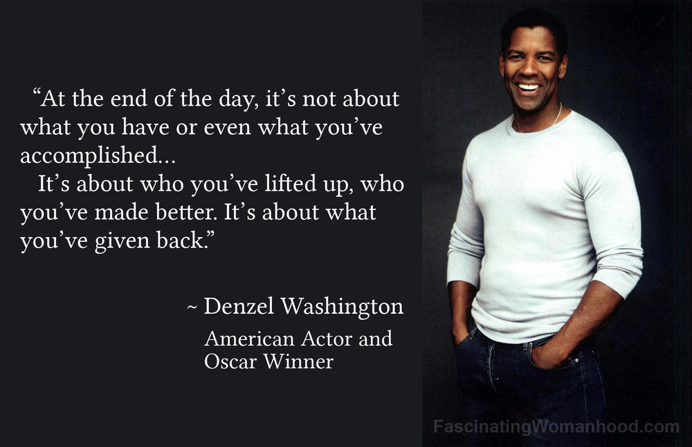 A Quote By Denzel Washington Fascinating Womanhood Awesome Denzel Washington Quotes