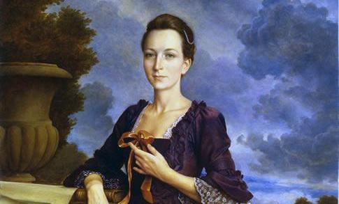 Martha Washington, wife of General George Washington.