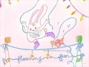 Flossing is fun_Tooth Bunny A Tsang