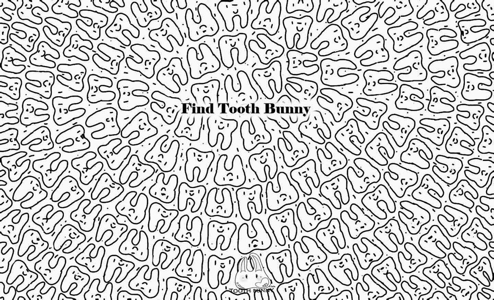 Find Tooth Bunny Among Friendly Teeth