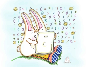 Tooth Bunny digital screen and toothbrushing