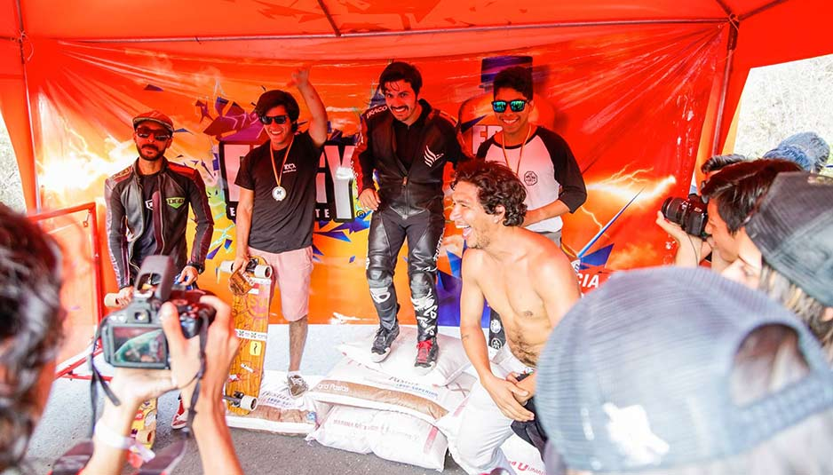 Luis Ladera (izq), Jesús Barberán, Daniel Calle y Luis Girón, ganadores de la categoría OPEN.