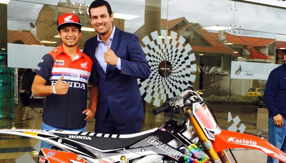 Andrés Benenaula, motocrosista de Ecuador.