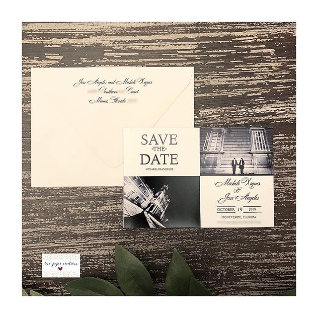 Happy Monday 💕🤗 Congratulations to the lovely couple, Michele and Jose! Thank you so much for letting me do your magnet save the dates 😘😘 #lovepapercreations #love #wedding #magnet #invitation #bride #groom #elegant #beautiful #destinationwedding