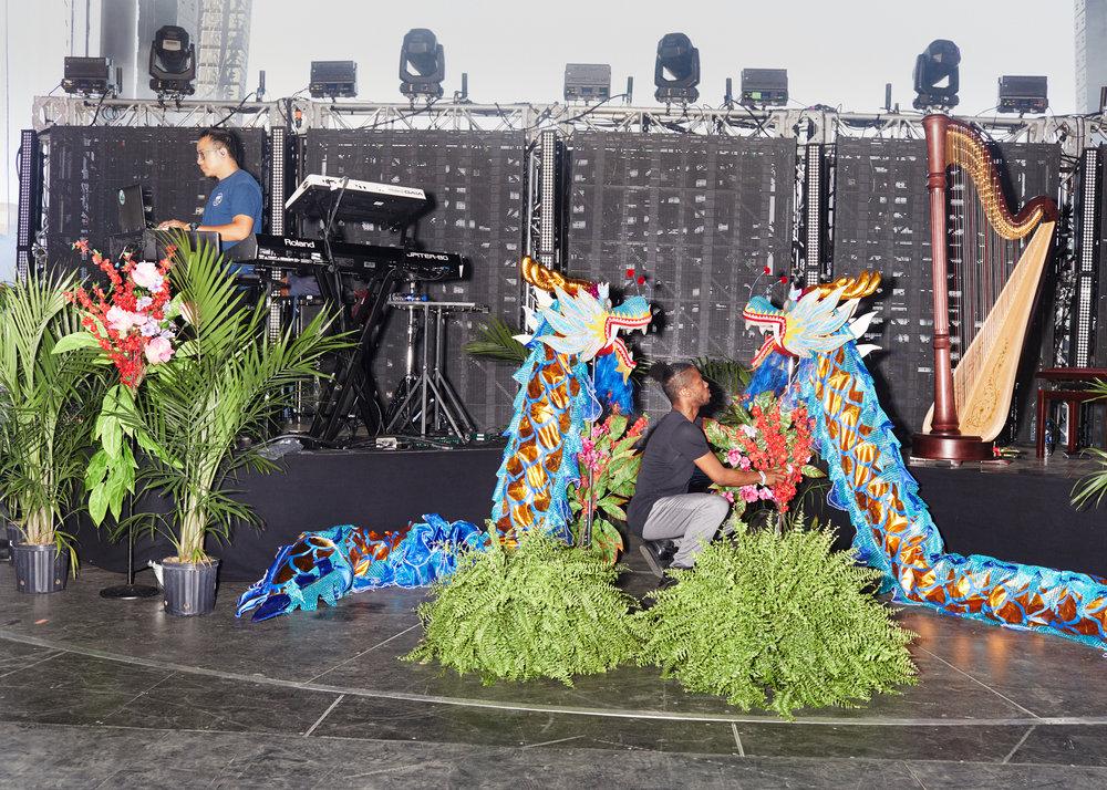 Jhené Aiko's stage set