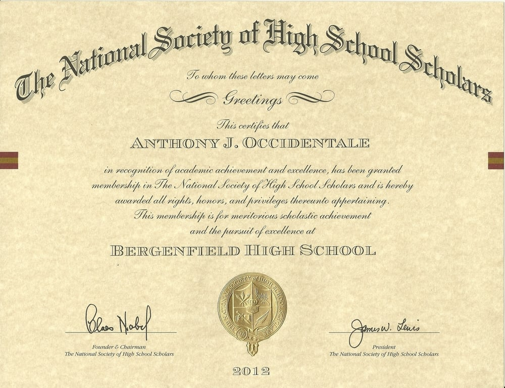 National Society of High School Scholars