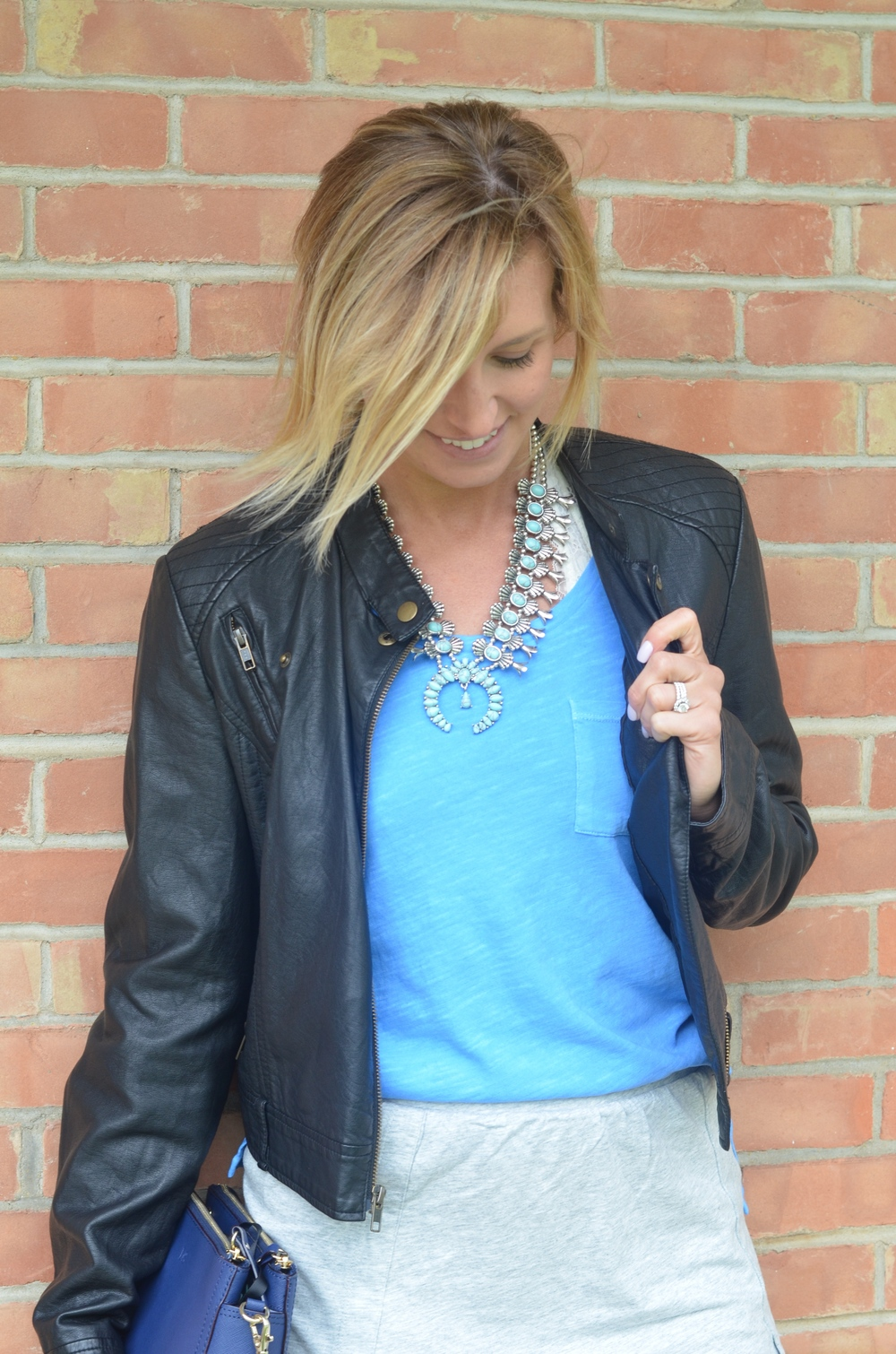 Skirt  HERE  // Top  HERE  or  HERE  // Jacket  HERE   or  HERE  //  Necklace  HERE  or  HERE
