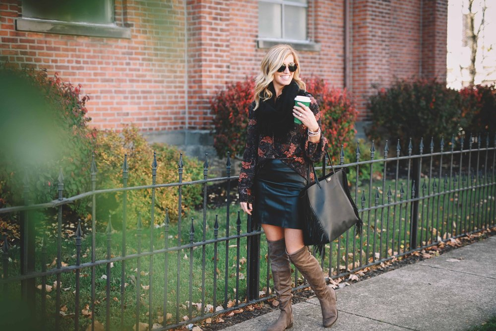 Over the knee boots  HERE  /  HERE  /  HERE   Leather fringe bag  HERE  /  HERE