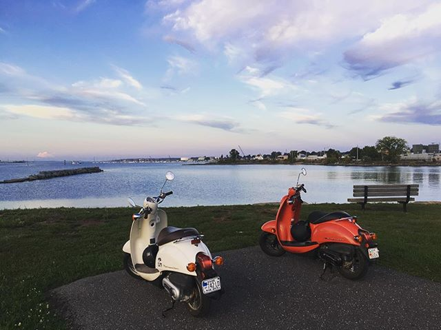 Home from a beautiful weekend to discover this new spot. Looking for a third [and blue] scooter to join our crew 🇺🇸