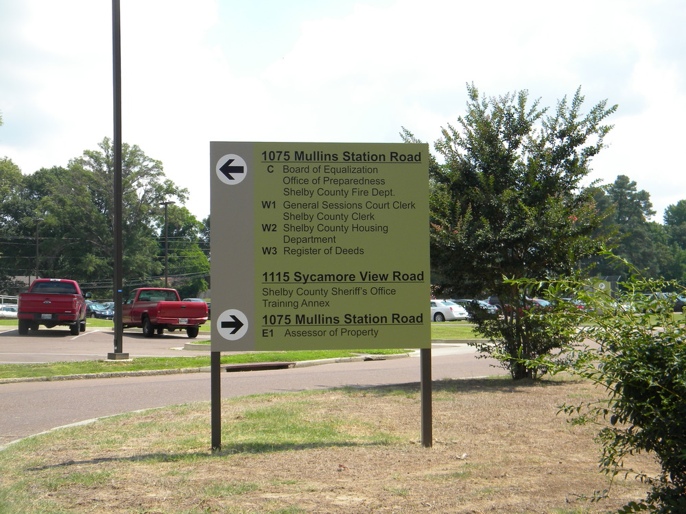 Shelby County Government Campus Signage — John Pruett Architects