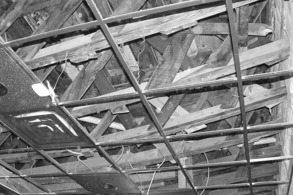 150 Jefferson roof trusses.